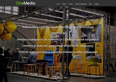 Projekt strony w WordPress dla Onemedia