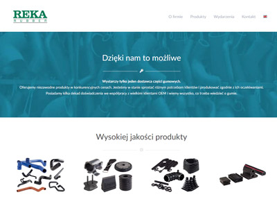 Reka Rubber – projektowanie strony firmowej