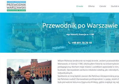 Strona www dla przewodnika