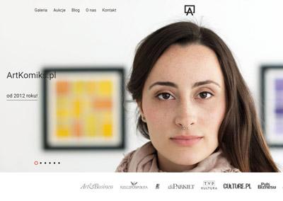 Strona, sklep, blog dla galerii Artkomiks